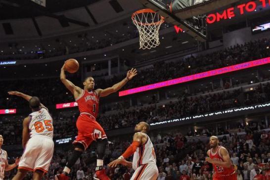 Derrick Rose dunk